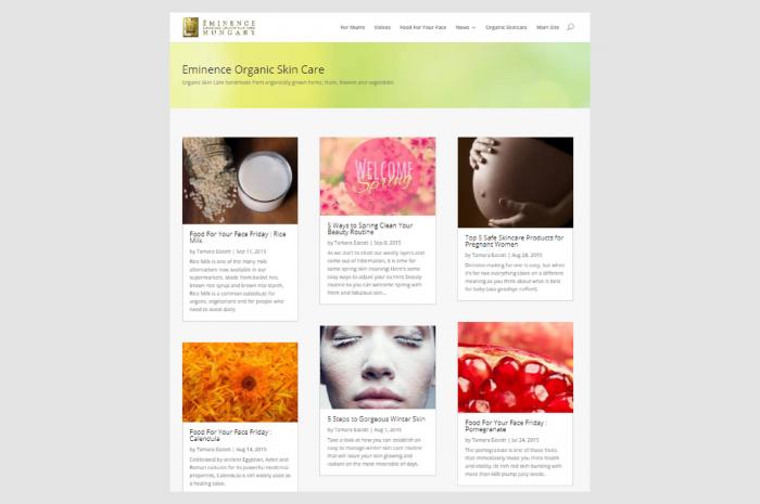 Blogging – Eminence Organics