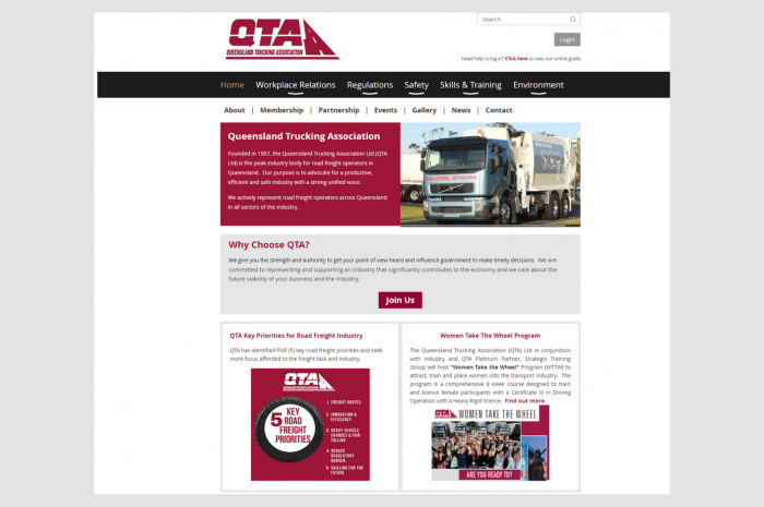 Website – Queensland Trucking Association