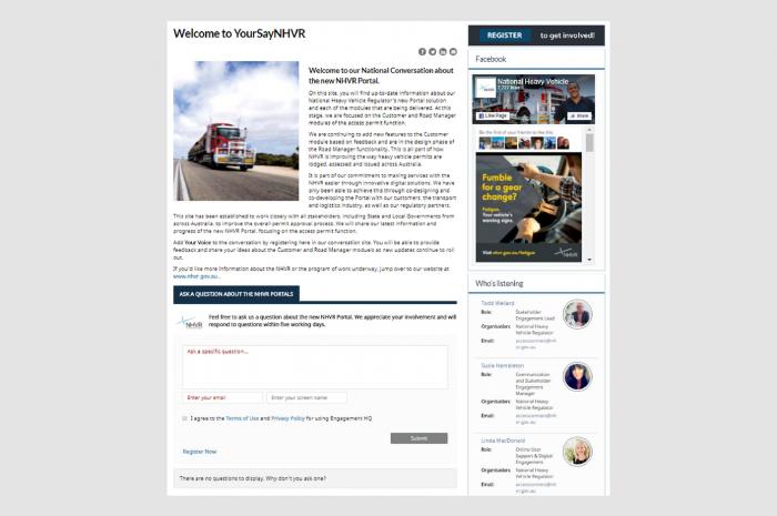 Stakeholder Engagement – NHVR