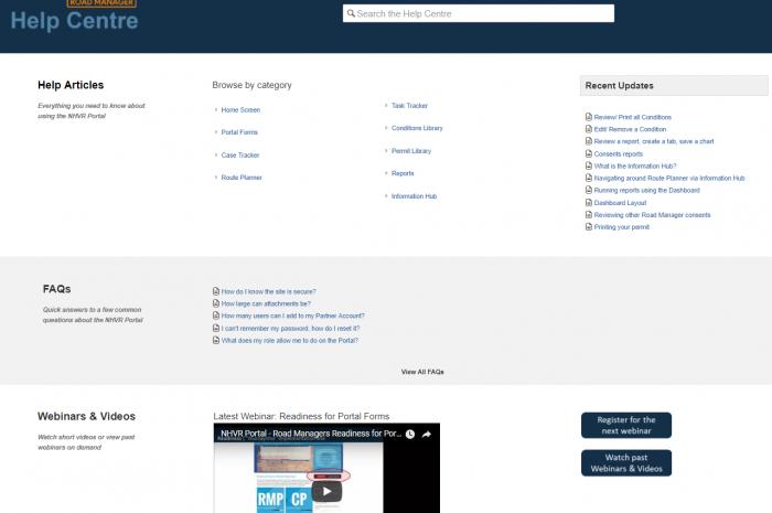 Website | Help Centre – NHVR