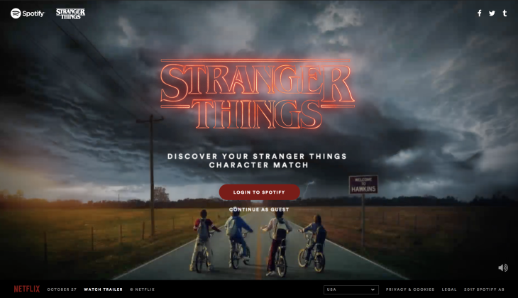 Spotify Stranger Things